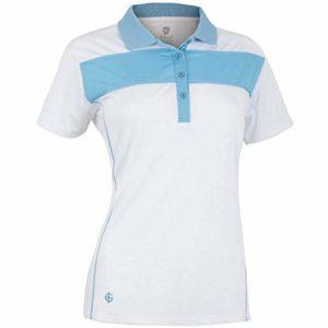 Island Green Iglts1881 Polo de Golf pour Femme, Femme, IGLTS1881_Whit_12, Cadet Blanc/Bleu, 40