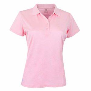 Island Green Polo de Golf uni pour Femme, Femme, Polo, IGLTS1851_Candy_12, Rose Bonbon, 40