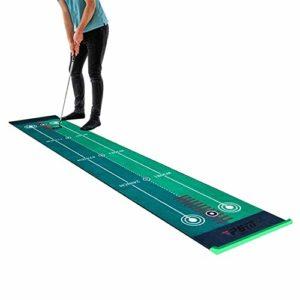 LLFF Golf Putting Green Mat, Golf Putting Mats Indoor Putting Green, Golf Hitting Mat, pour La Maison, 0,5 × 3m (Color : Without Putter)