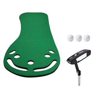 LLFF Golf Putting Green Mat, Golf Putting Mats Indoor Putting Green, Tapis de Frappe de Golf, pour La Maison, 0,5 × 3 m (Color : Turf Version)