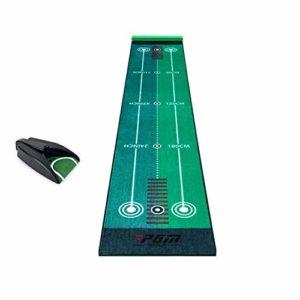 LLFF Golf Putting Green, Tapis Portable avec Fonction de Retour Automatique de Balle, Aide à La Formation de Pratique de Golf, Jeu et Cadeau pour La Maison, Le Bureau (Color : Ball Return Device)