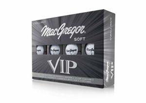 MACGREGOR VIP Balles de Golf Souples (Une Douzaine) N/A Blanc
