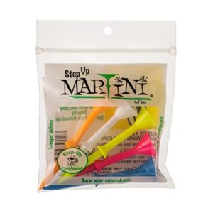 Martini 3 1/10,2 cm Step-Up Tees de Golf Tees- Assortis Lot de 2 (10)