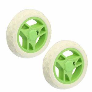 New Lon0167 remplaçable En vedette pour chariot efficacité fiable de golf de voyage sur roulettes-Blanc/vert (2 pièces)(id:cb7 db b1 b50)
