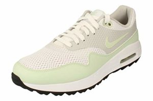 Nike Air Max 1 G Hommes Golf Chaussures CI7576 Sneakers Chaussures (UK 8.5 US 9.5 EU 42.5, White Jade Neutral Grey 111)