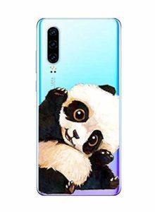 Oihxse Clair Case pour Huawei Enjoy 9 Coque Ultra Mince Transparent Souple TPU Gel Silicone Protecteur Housse Mignon Motif Dessin Anti-Choc Étui Bumper Cover (A15)