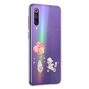 Oihxse Compatible pour Huawei Honor 9i Coque [Mignon Transparente Éléphant Lapin Motif Séries] Housse TPU Souple Protection Étui Ultra Mince Anti Choc Animal Case (A11)
