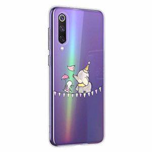 Oihxse Compatible pour Huawei Nova 5i/P20 Lite 2019 Coque [Mignon Transparente Éléphant Lapin Motif Séries] Housse TPU Souple Protection Étui Ultra Mince Anti Choc Animal Case (A15)