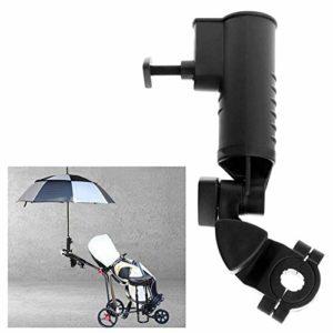 ORETG45 Support de parapluie réglable pour chariot de golf pour poussette de vélo, porte-bébé, fauteuil roulant, Pas de zéro, Noir , Taille unique