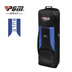 PGM Golf Aviatin Sac de Golf Air Package épaissir rembourré Sac de Golf Housse de Transport avec roulettes – 5Couleurs (Hkb001), Bleu