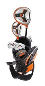 Precise M7 Junior Ensemble Complet de Clubs de Golf pour Enfant 3 Groupes d'âge pour droitier, Red, Green, Orange, Ages 6-8 Green