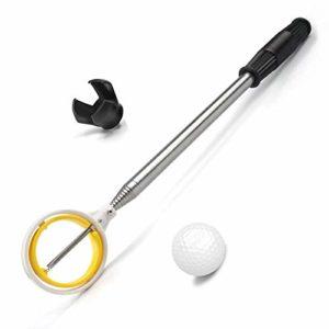 prowithlin Retriever de Balle de Golf Télescopique en Acier Inoxydable pour l'eau avec Outil de Saisie de Putter de Balle de Golf, Accessoires de Golf Cadeau de Golf pour Hommes (2.74)