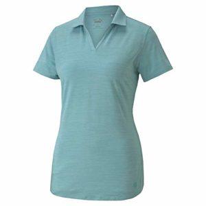 PUMA Golf 2020 Cloudspun Free Polo pour Femme, Femme, Polo, 597695, Bleu pâle, M