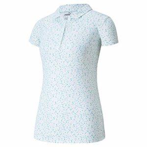 PUMA Golf 2020 Cloudspun Speckle Polo pour Femme, Femme, Polo, 597699, Bleu pâle, XXL