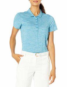 PUMA Golf 2020 Polo pour Femme, Femme, Polo, 595826, Digi-Blue Heather, Double Extra Large