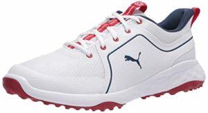 PUMA Grip Fusion Sport 2.0, Chaussure de Golf Homme, White Dark Denim, 40 EU