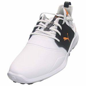 Puma Ignite NXT Pro Chaussures de golf imperméables pour homme, Blanc (blanc/noir), 40.5 EU
