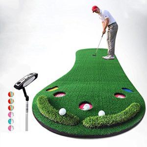 QiangDa Agrandi Tapis De Golf Putting/Exterieur Tapis D'entraînement Personnel Loisirs Extérieurs/Intérieurs Pliage Facile, 300 X 90 Cm, 2 Ensembles Optionnels (Couleur : 1#)