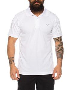 Raff & Taff Polo de fitness respirant de qualité supérieure – Blanc – X-Large
