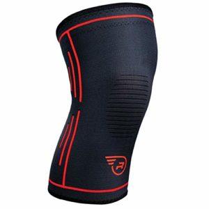 Run Forever Sports Manchon de Compression pour Genou, Black – XL