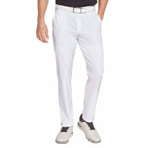 Skechers Golf Men's Eagle on 10 Modern Fit Flat Front Pant, bright white, 34