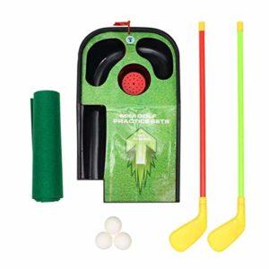 SOHOH Ensemble De Jouets De Golf pour Enfants, Ensemble De Pratique De Mini-Golf pour Enfants, Lumières LED,pour Le Jeu Extérieur D'intérieur pour Enfants