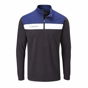 Stuburt SBTOP1122 Evolve Extreme Veste de Golf Thermique et Respirante avec Demi-Fermeture Éclair pour Homme Noir Taille M