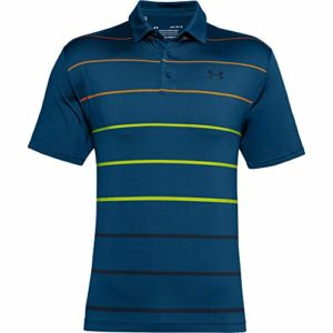 Under Armour Polo Playoff 2.0 Homme, Graphite Blue,Golden Yellow,Academy (581), FR (Taille Fabricant : XS)