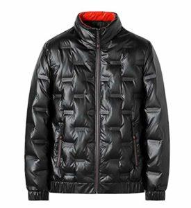 Veste brillant face vers le bas for hommes, à la mode d'hiver Stand-up collar épaissie manteau d'argent, court Reflective personnalité masculine Rue de grande taille Veste d'hiver vers le bas, 90% de