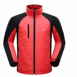 Vêtements avec Reflective Hommes Respirant Golf Vêtements Automne Hiver avec Manteau à Manches Longues Golf Trench Vêtements Hommes Homme Vert Fluo Confortable (Couleur : Rouge, Size : XL)