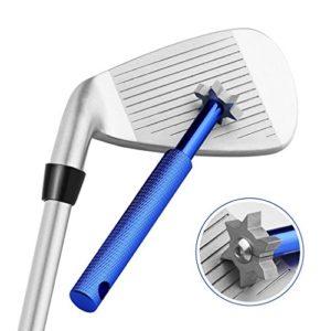 Yandu Golf Cleaner Club de Golf Groove Sharpener pour Tous Les fers Pitching Sand Lob Gap et Cales d'approche et Clubs Utilitaires (Blue)