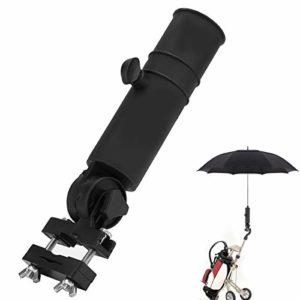 Yinuoday Golf Parapluie Support Rallonge Adaptateur pour Chariot Poussoir Chariot Pince Support Support Connecteur Poignées Accessoire Universel 22. 5Cm Noir