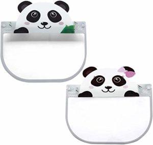 Yomi Lot de 2 housses de protection contre la buée pour la bouche Motif panda, Motif panda