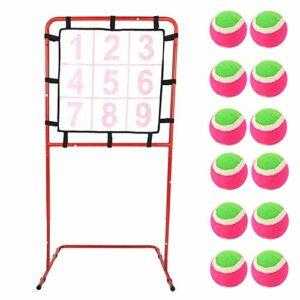 A sixx 9 Grilles 12 Balles Cadre Cible, 9 Grilles Enfants Jouets Cible Cadre Développement Précoce Éducation Jeu Viser Rack Jouet Éducation Jeu Viser Rack Jouet Viser Rack Jouet