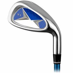 Club de Golf Golf Practice Club Golf Carbon Iron 7 Fers Garçons Et Filles Débutants Pratique Pole 3-12 Ans Orange Rouge Bleu (Color : 6-8Age-blue, Size : Carbon Rod)