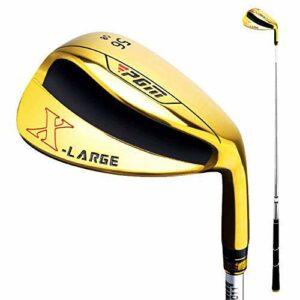 Crestgolf Golf Wedge PGM Golf Droitier pour Hommes Golf Wedge Golf Sand Club (Or / 56 °)