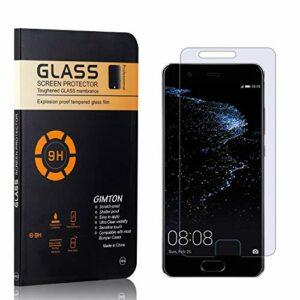 GIMTON Verre Trempé pour Huawei P10 Plus, sans Poussière, Ultra Transparent, Dureté 9H Protection en Verre Trempé Écran pour Huawei P10 Plus, 1 Pièces