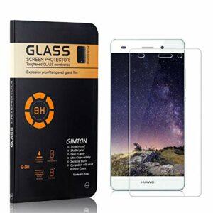 GIMTON Verre Trempé pour Huawei P8 Lite 2015 / Huawei P8 Lite 2016, sans Poussière, Ultra Transparent, Dureté 9H Protection en Verre Trempé Écran pour Huawei P8 Lite 2015 / P8 Lite 2016, 1 Pièces