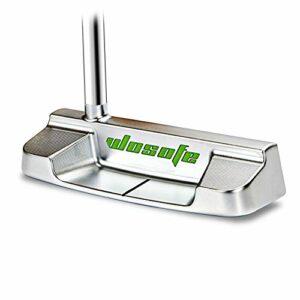 Golf Putter pour homme galvanoplastie sous vide CNC avec lustre brillant, Argenté, 35