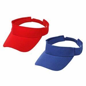 harayaa 2PCS Pure Cotton Sun Visor Hat Unisexe Golf Tennis UV Protection Sports Cap