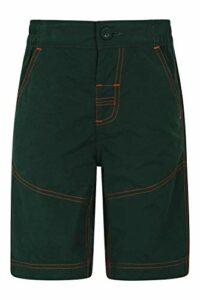 Mountain Warehouse Desert Kids Shorts – Breathable Childrens Short Trousers, Durable Bottoms, Multiple Pockets Pants – Best for Outdoors, Picnic, Parks Kaki 5-6 Ans