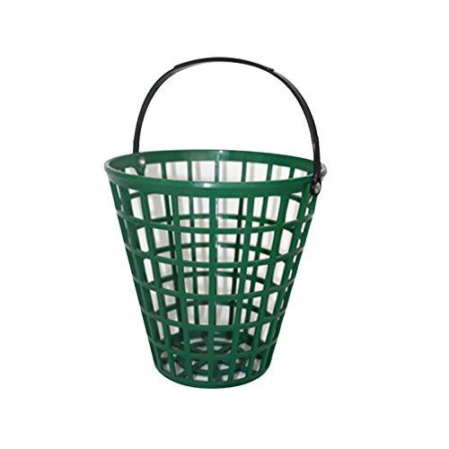 MOVKZACV Panier de balle de golf en nylon pour extérieur Vert Grande capacité de transport à la maison Conteneur de rangement pratique et portable avec poignées empilables (75)