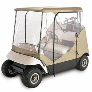 NA Classique Voiturette Couverture Pluie 2 Passager 210D Oxford Tissu + PVC Club Accessoires Voiture Accessoires de Golf