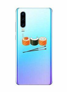 Oihxse Clair Case pour Huawei Mate 20X Coque Ultra Mince Transparent Souple TPU Gel Silicone Protecteur Housse Mignon Motif Dessin Anti-Choc Étui Bumper Cover (A13)
