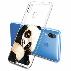 Oihxse Clair Case pour Samsung Galaxy S6 Coque Ultra Mince Transparent Souple TPU Gel Silicone Protecteur Housse Mignon Motif Dessin Anti-Choc Étui Bumper Cover (A15)