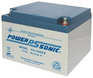 Power Sonic 12V 26Ah AGM/Gel Deep Cycle rechargeable batterie Chariot Golf