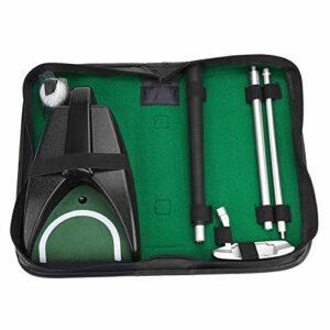 RiToEasysports Kit de Putter de Golf, kit d'outils d'aide à la Formation de Perruque de Balle de Club de Golf pour Main Droite avec Sac de Rangement Facile à Assembler