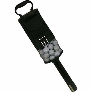 Sac Ramasse-balles de balle de golf II Pick Up Grabber Golden Retriever poche pratique et Tés Support capacitity de 80Balles