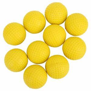 T best 10 PCS Balle de Golf, Balle de Formation de Pratique de Golf Ronde légère en PU léger pour Le tir d'approche