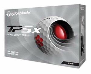 TaylorMade Balles de Golf Unisexes TP5, Blanches, Taille Unique